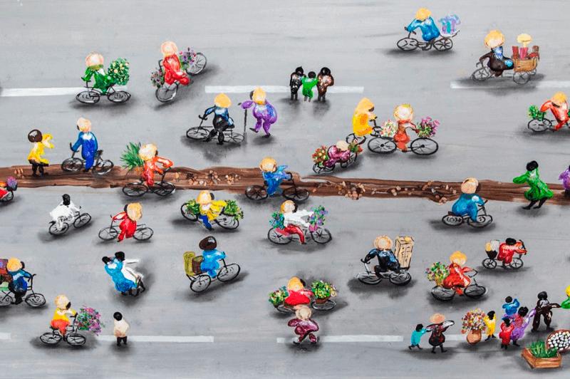 Bike riders on the Highway